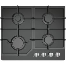 Midea 60cm Gas Cooktop Black Glass 60G40ME084-GFT