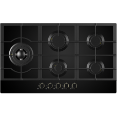 Midea 90cm Gas Cooktop Black Glass 90G50ME060-GFL