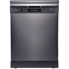 Midea 15 Place Setting Dishwasher - Black Steel JHDW15FSBK