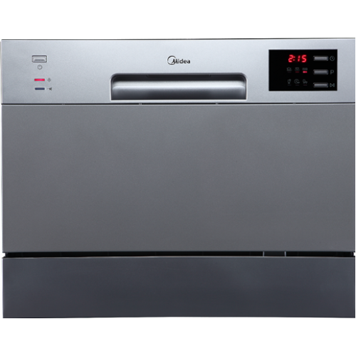 Midea 6 Place Setting Bench Top Dishwasher - Stainless Steel JHDW6TT