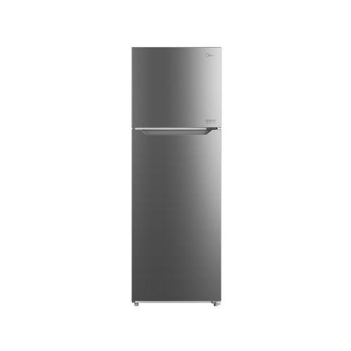 Midea 372L Top Mount Fridge Freezer Stainless Steel