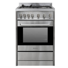 FS 600-GAS GAS 600mm 70 Litre Freestanding Stove, Full Gas, Stainless Steel