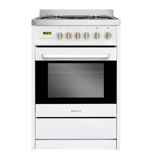FS 600-WHT 600mm 70 Litre Combination Freestanding Stove, White