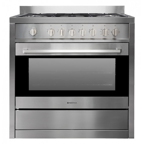 AR 900-GAS GAS 900mm Freestanding Stove, Full Gas, Stainless Steel