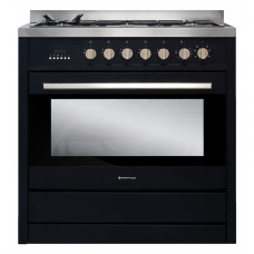 AR 900-OBS 900mm Combination Freestanding Stove, Obsidian