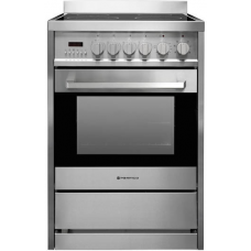 Parmco 600mm 70 Litre Ceramic Freestanding Stove, Stainless Steel FS 600-CER