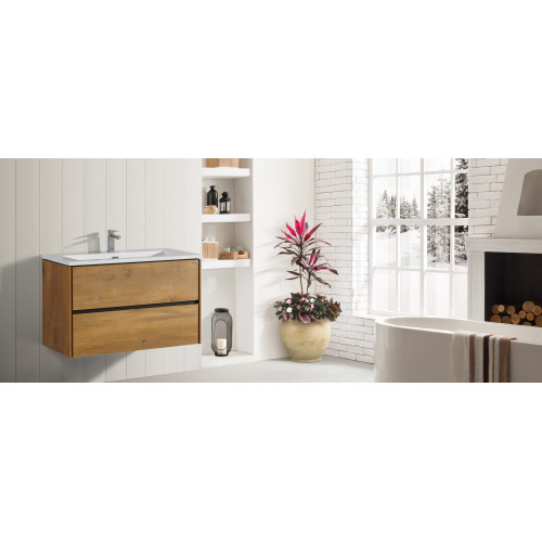 METIS Daphne Wall Hung 2 Drawer Vanity
